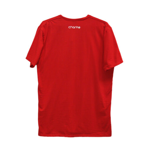 Charco rød t-shirt back